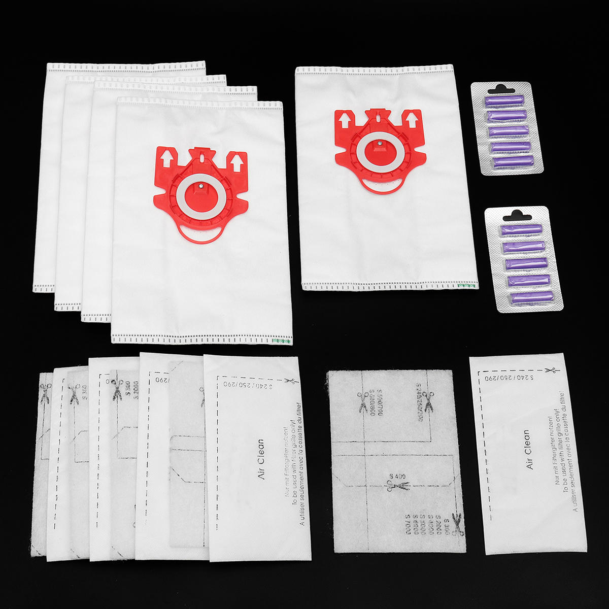 C2 Series FJM Type Fresheners 12pcs Vacuum Cleaner Bags For Miele Compact C1
