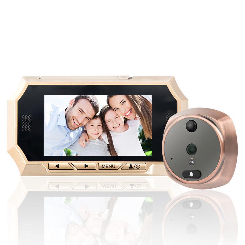 """4.3/"""" LCD HD Peephole Viewer Door Eye Doorbell IR Camera PIR Motion Detection US"""