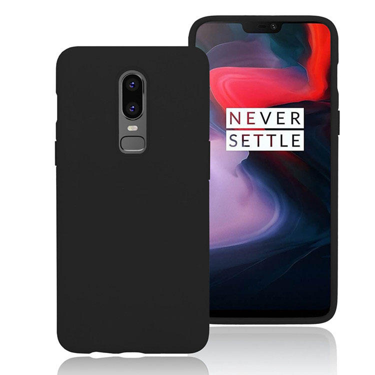 new products 10a74 0e1e1 Bakeey Shockproof Soft Silicone Protective Case For Oneplus 6