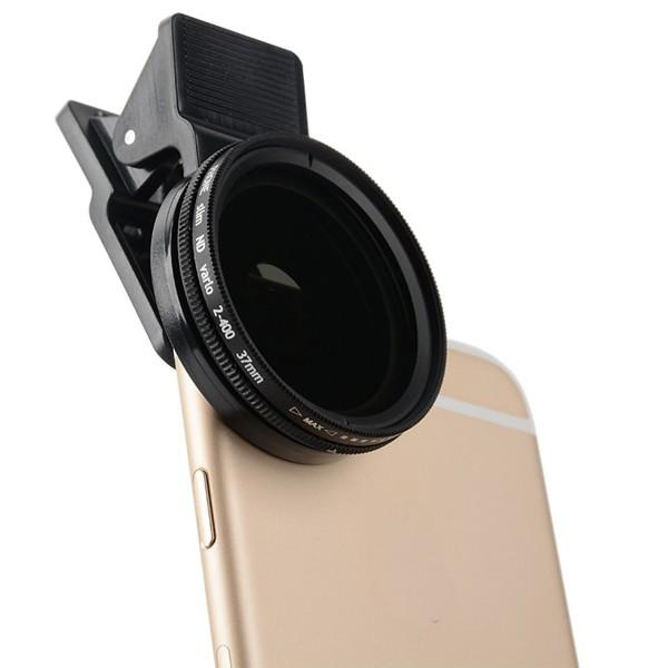Zomei Adjustable 37mm Neutral Density Clip-on ND 2-400 Phone Camera Filter Lens for iPhone Samsung HTC Huawei Android IOS