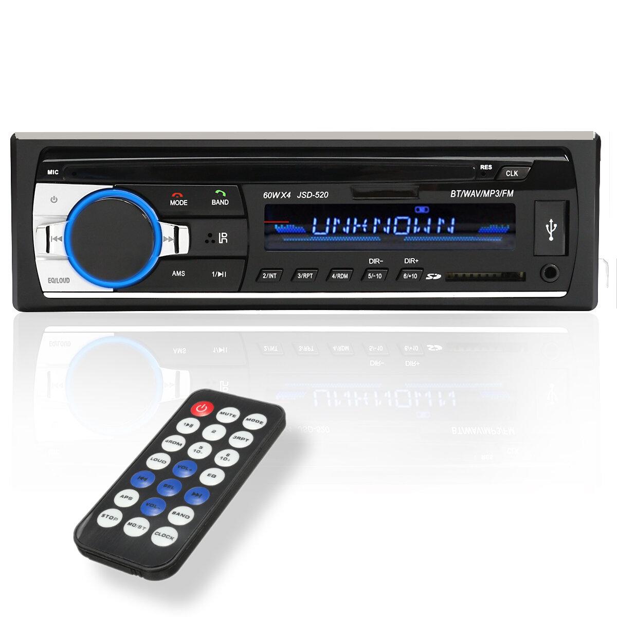JSD-520 24V Car Stereo Radio MP3 Player Auto Audio bluetooth Hands-free AUX SD USB FM