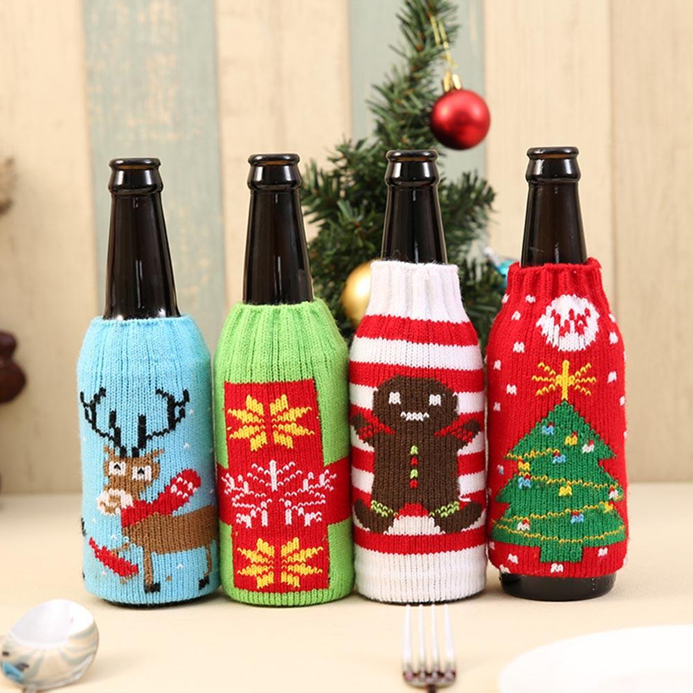 1//2 x Fancy Santa Claus Outfit Christmas Wine Bottle Bag Cover Xmas Table Decor