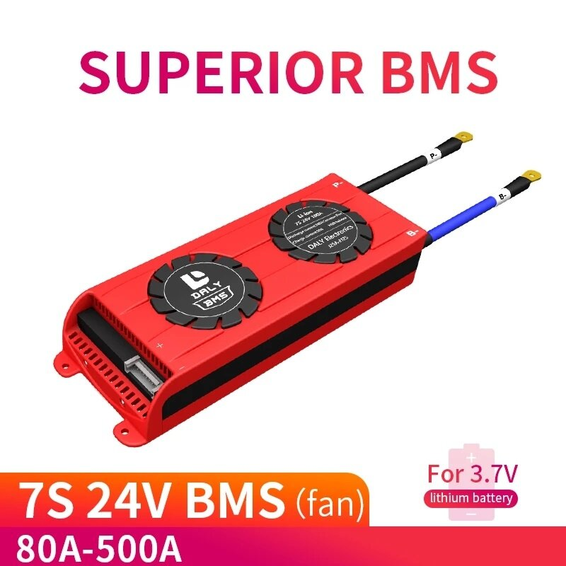 DALY BMS 7S 24V 80A 100A 150A 200A 29.4V Lithium Battery Protection Board with Balance BMS Charging Voltage 29.4V BMS PC