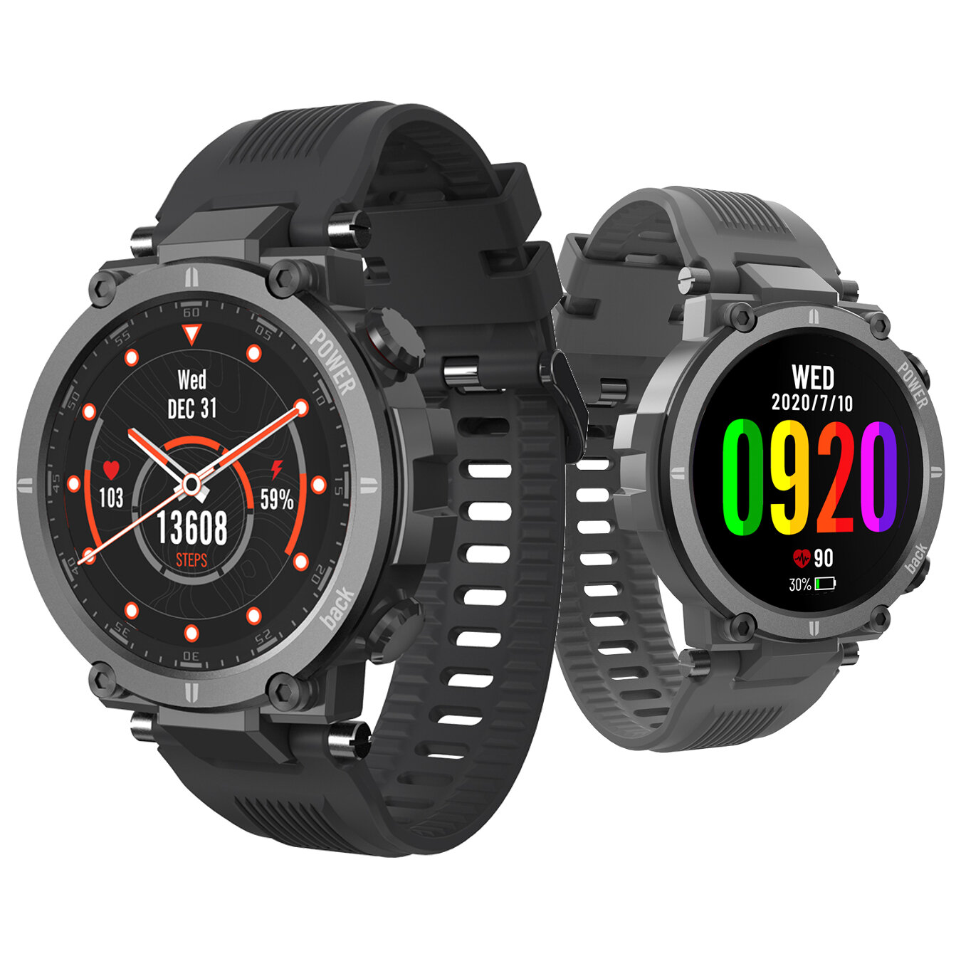20 Sport ModesKospet Raptor 320+320px Full Touch Rugged Screen 24 hour Heart Rate Monitor 30 Days Standby Multiple Creative UI IP68 Waterproof Outdoor Smart Watch