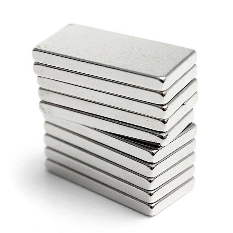 5pcs Süper Güçlü Blok Cuboid Mıknatıslar Oyuncaklar 20 x 10 x 2 mm