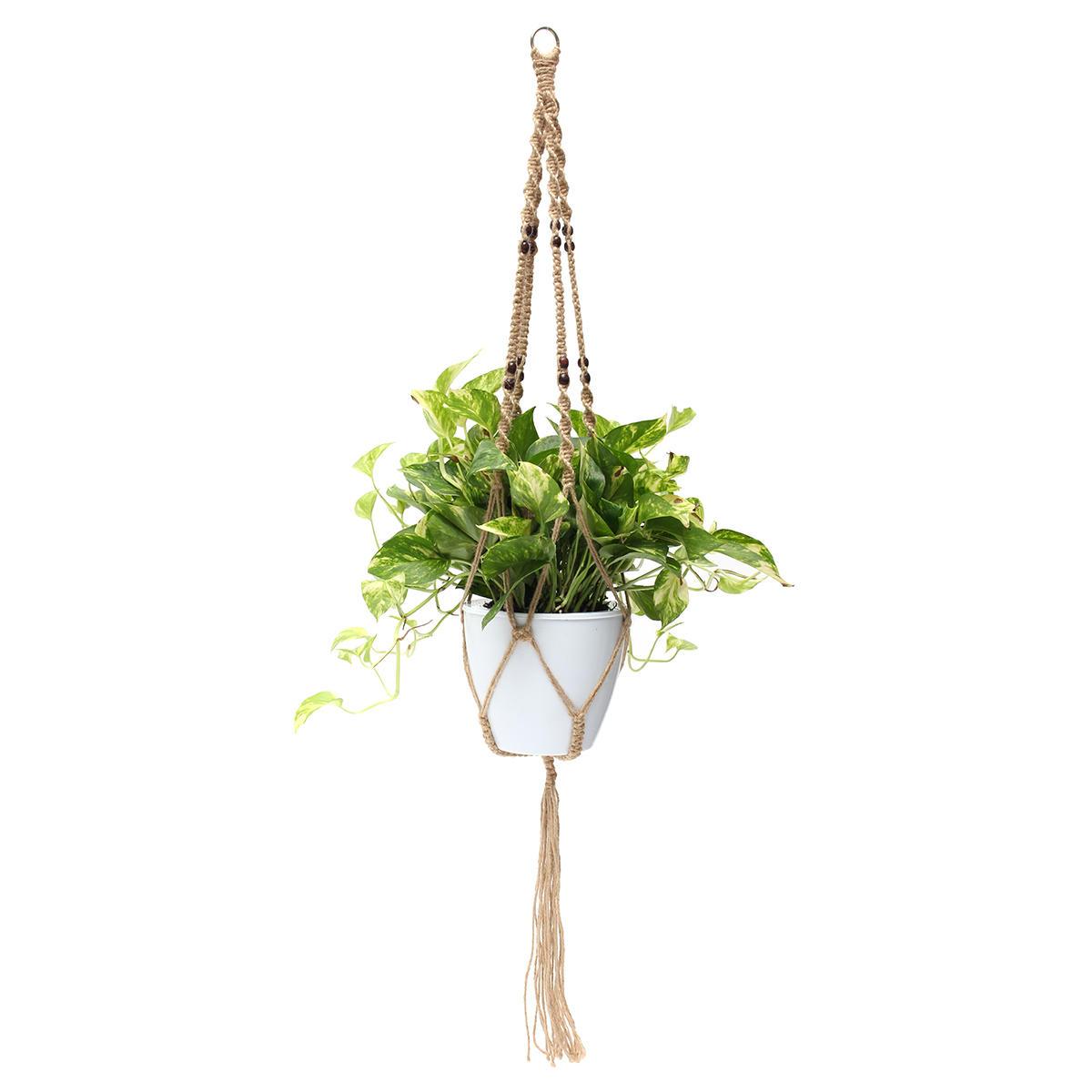 48 4 Legs Macrame Plant Hanger Holder Hanging Planter Basket Jute