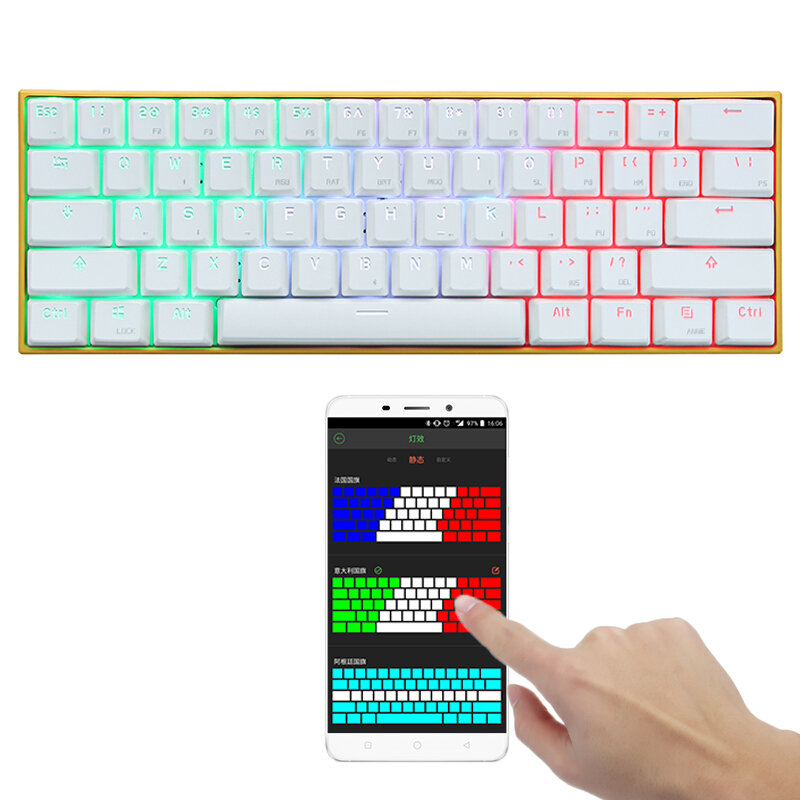 efcdbc653e4 [APP Control] Obins Anne PRO Blue/Red/Brown Switch RGB Wireless bluetooth