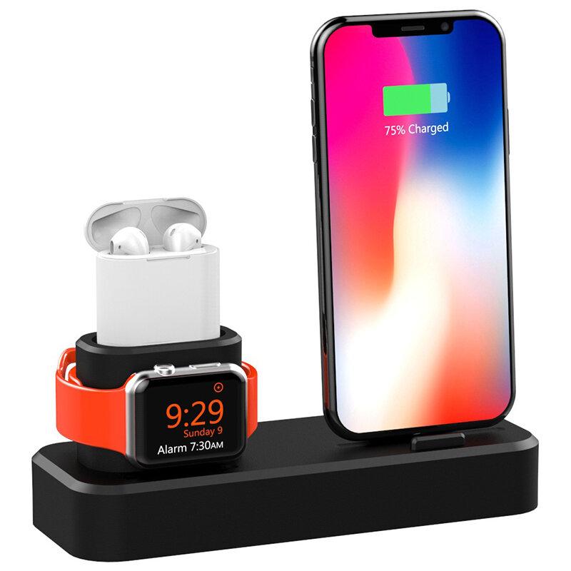 Đế sạc điện thoại 3 in1 Đế giữ điện thoại cho iPhone XS Max XS XR Apple AirPods 8314804 Series 1 2 3 4
