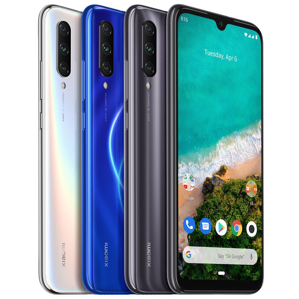 Xiaomi Mi A3 Global Version 6.088 inch AMOLED 48MP Triple Rear Camera 4GB 128GB Snapdragon 665 Octa core 4G Smartphone