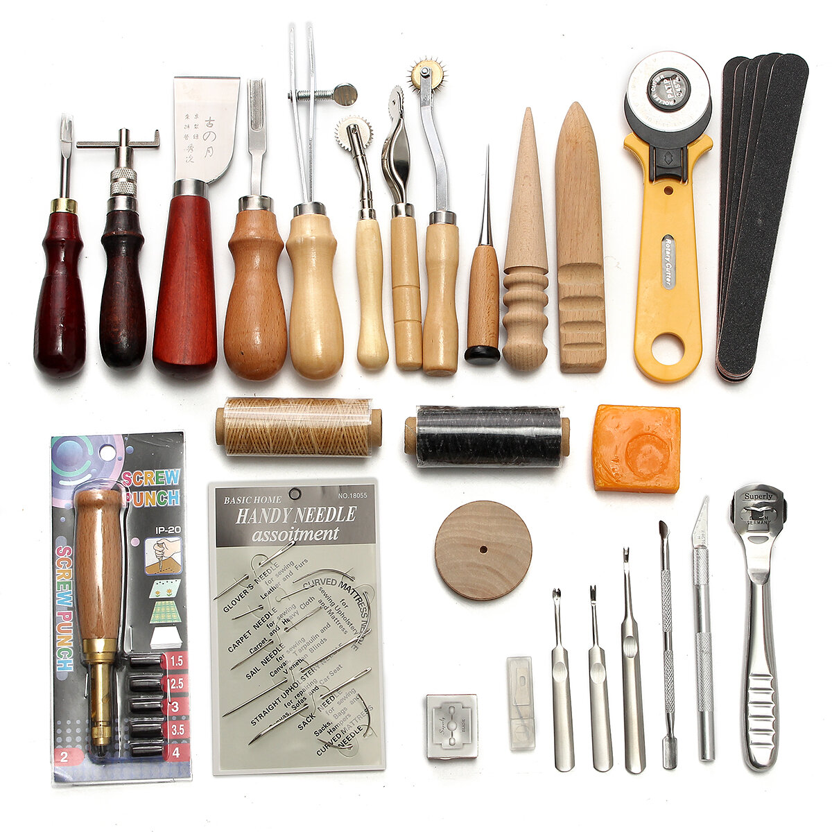Leather working tool kit