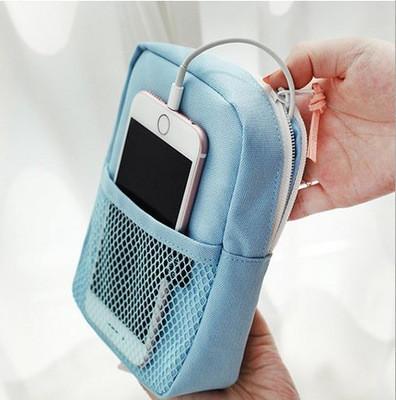 सेल फोन पावर बैंक ईरफ़ोन चार्जर केबल के लिए मिनी पोर्टेबल डिजिटल उत्पाद स्टोरेज बैग ऑर्गनाइज़र