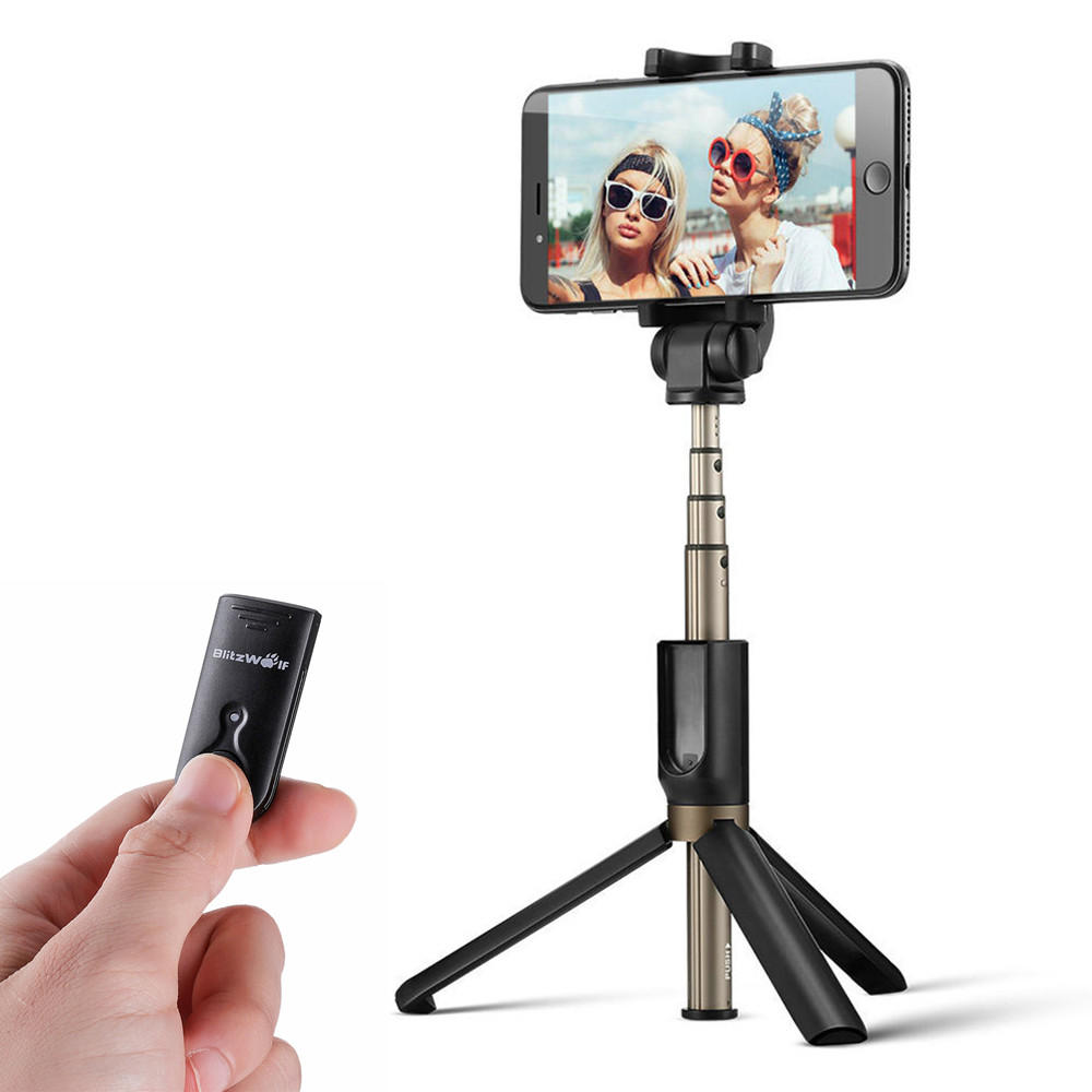 BlitzWolf BW-BS3 Versatile 3 in 1 bluetooth Tripod Selfie Sticks for iphone 8 8 Plus iphone X