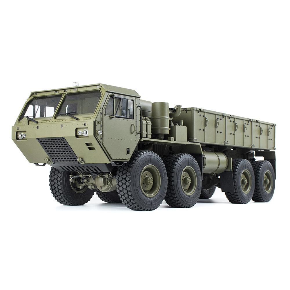 44 998 9 5 पी 801 पी 802 1/12 2.4 जी 8 एक्स 8 एम 8 9 7 739 मिमी आरसी कार US बैटरी चार्जर के बिना सेना सैन्य ट्रक