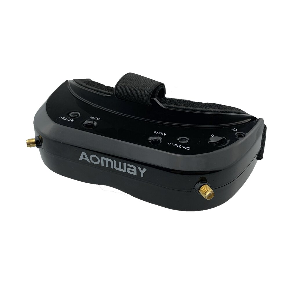 AOMWAY Commander V1S FPV Goggles 5.8Ghz 64CH Diversity 3D HDMI Built-in DVR Fan Support Head Tracker