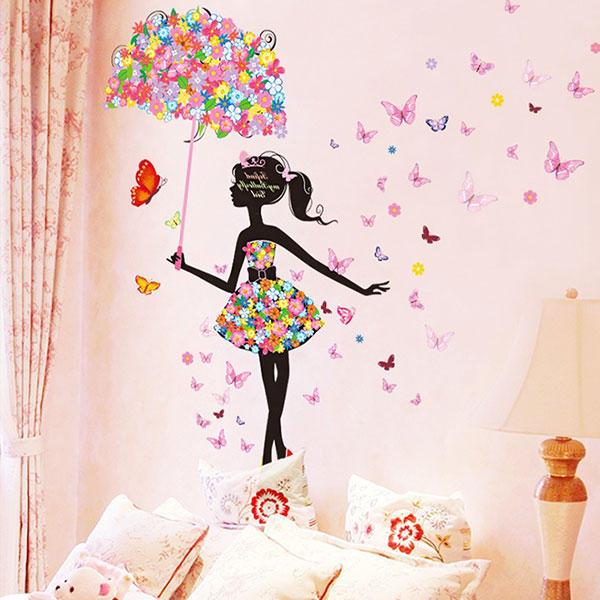 491cf8c6ec57 Butterfly Flowers Girls Room Decoration DIY Wall Sticker Wallpaper Art Decal  Home Mural COD