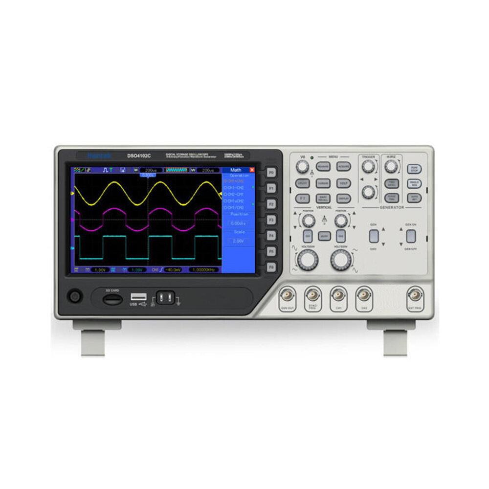 Hantek DSO4102C Digital Multimeter Oscilloscope USB 100MHz 2 Channels LCD Display Waveform Genera