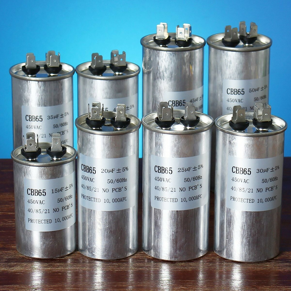 15-50uF Motor Capacitor CBB65 450VAC Air Conditioner Compressor Start  Capacitor