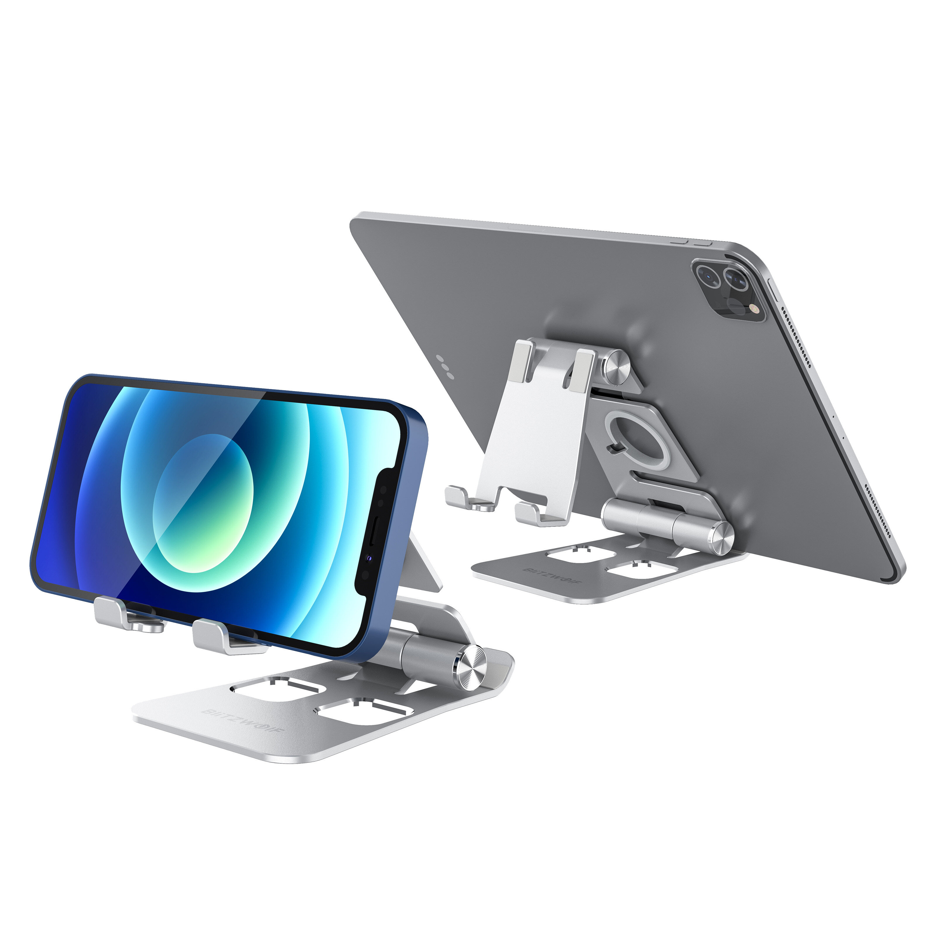 BlitzWolf® BW-TS4 3 in 1 Tablet/Phone Holder Portable Foldable Online Learning Live Streaming Desktop Stand Watch Tablet Phone Holder For iPhone 12 Poco For Samsung Galaxy S21 X3 NFC