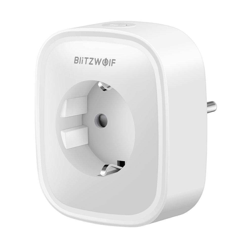BlitzWolf® BW-SHP2 Smart WIFI 16A presa di corrente 220V Spina UE Funziona con Amazon Alexa Assistente Google Compatibile con BlitzWolf Tuya APP
