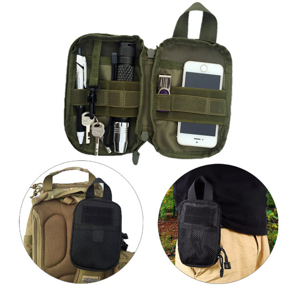 Outdooors Tactical Multifunctional Nylon Hiking Waist Pouch Wallet Storage Bag