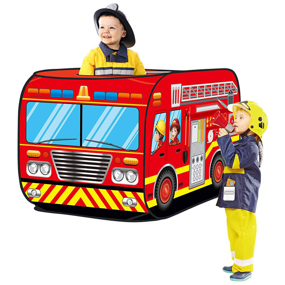 Foldable Game House Children's Play Tent Fire Truck Police Car School buses Ice-cream Truck Model House Kid's Toy Tent
