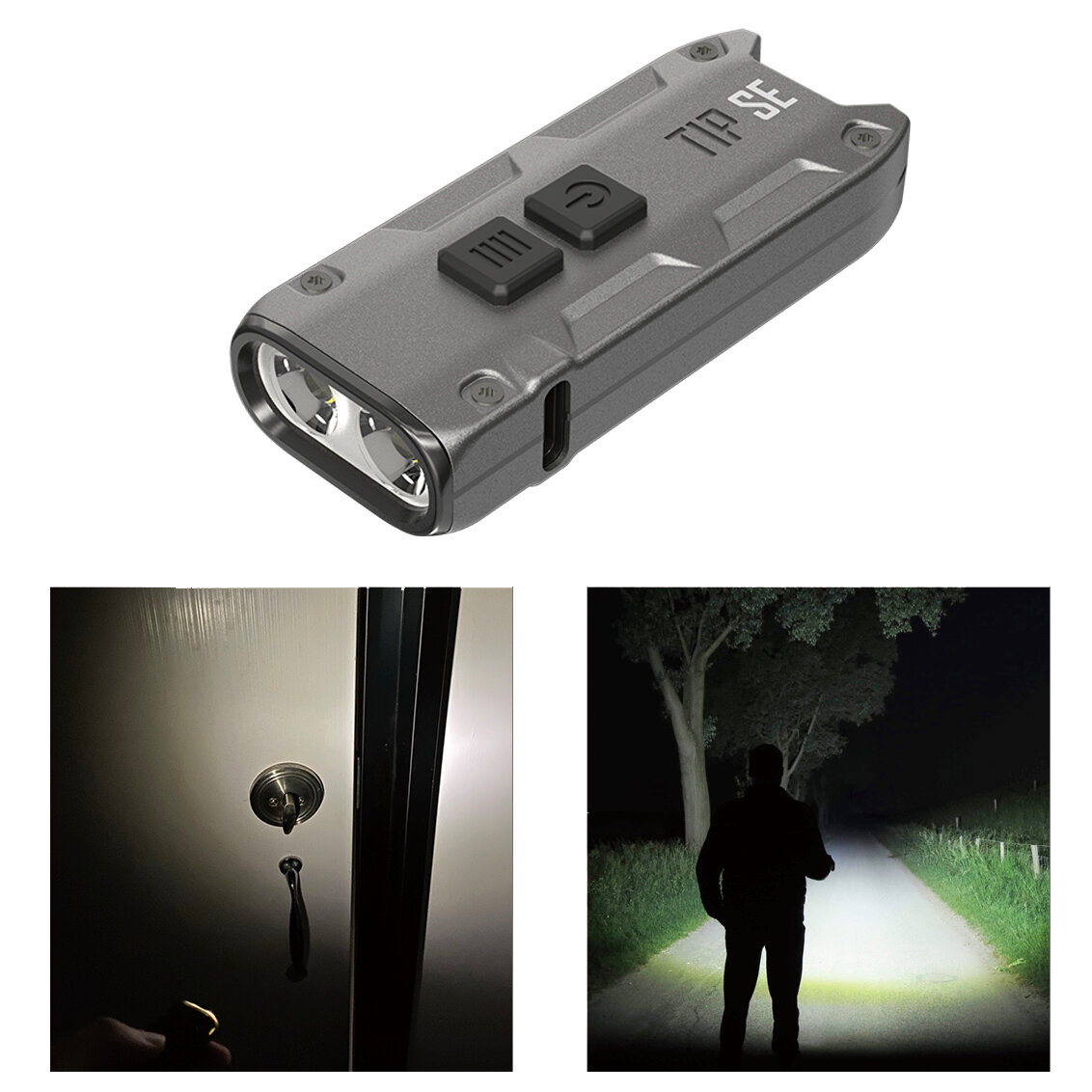 Banggood coupon: NITECORE TIP SE 700LM OSRAM P8 Dual Light LED Keychain Flashlight Type-C Rechargeable QC Every Day Carry Mini Torch