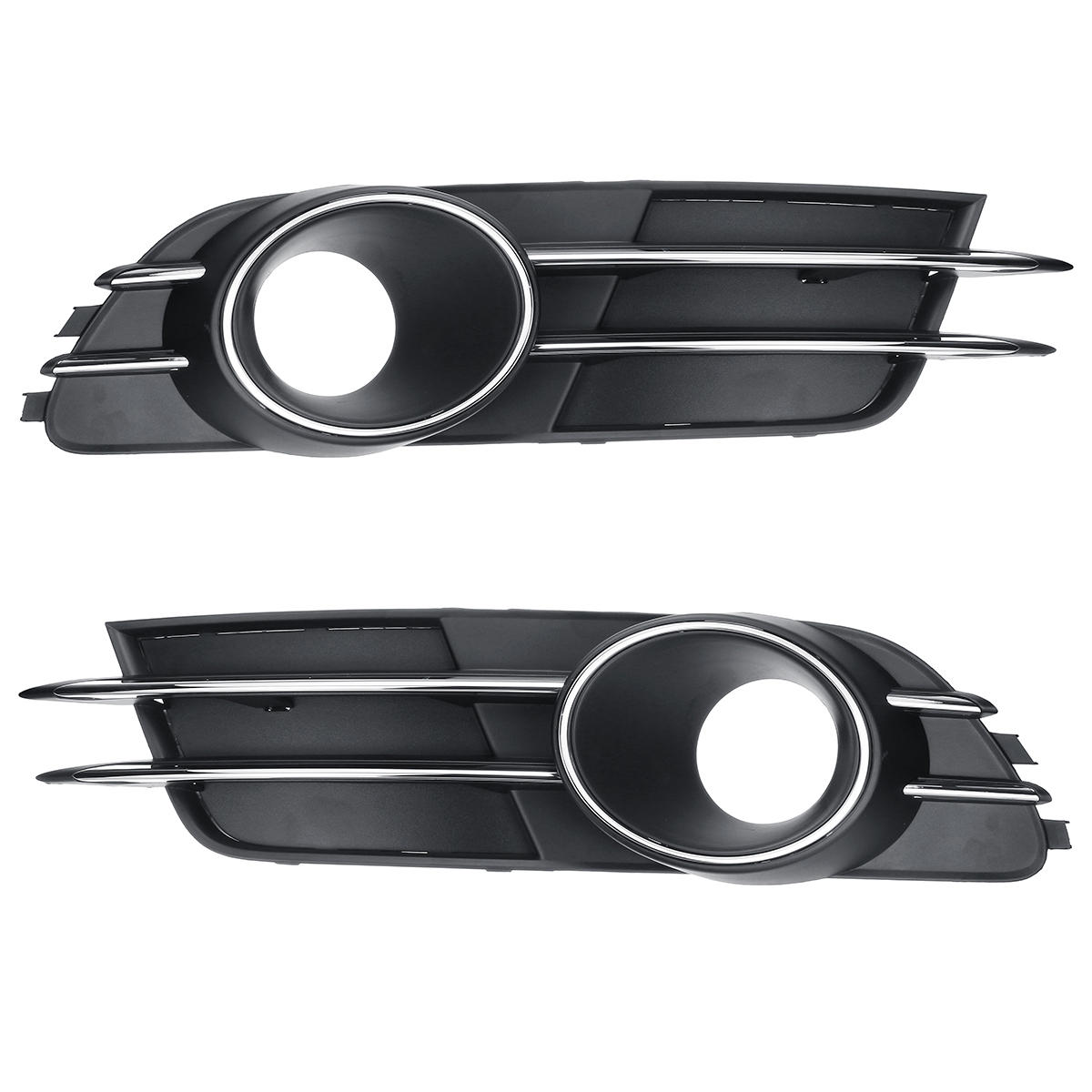 Front Lower Bumper Fog Light Grille Lamp Cover Vent Pair for AUDI A6 C7  2011-2017