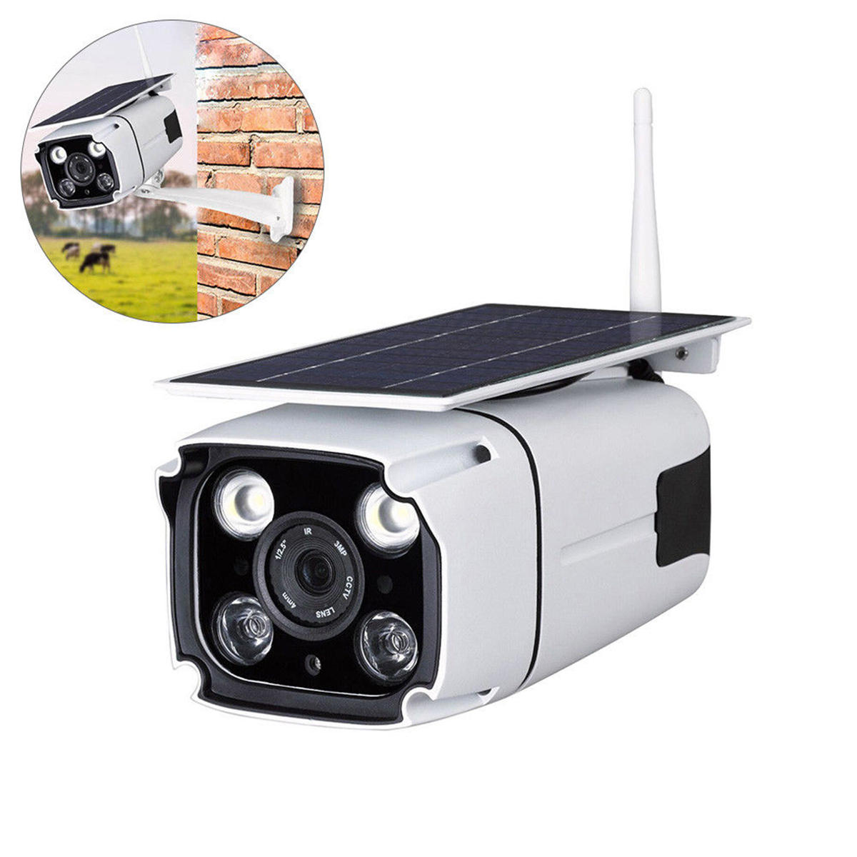 IP67 1080P HD Solar Powered Wireless WIFI IP Surveillance Camera Night Vision Outdoor
