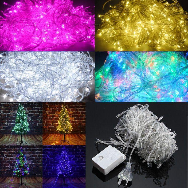 AC220C AU Plug 8 Modes 10M 100 LED Fairy String Light Christmas Party Holiday Decor Waterproof
