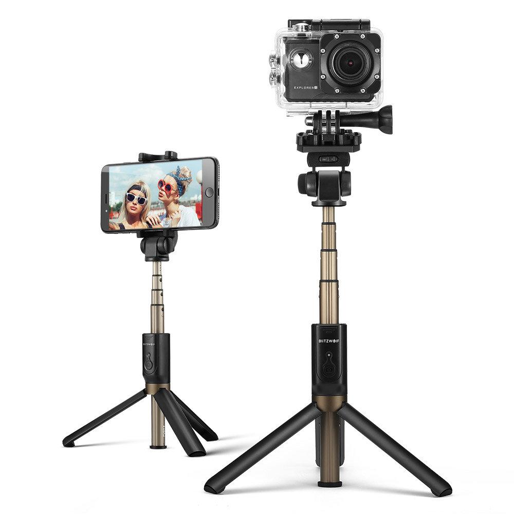 379c73d4f2e205 BlitzWolf BW-BS3 Sports Versatile 3 in 1 bluetooth Tripod Selfie Sticks for  Sport Camera Phone COD