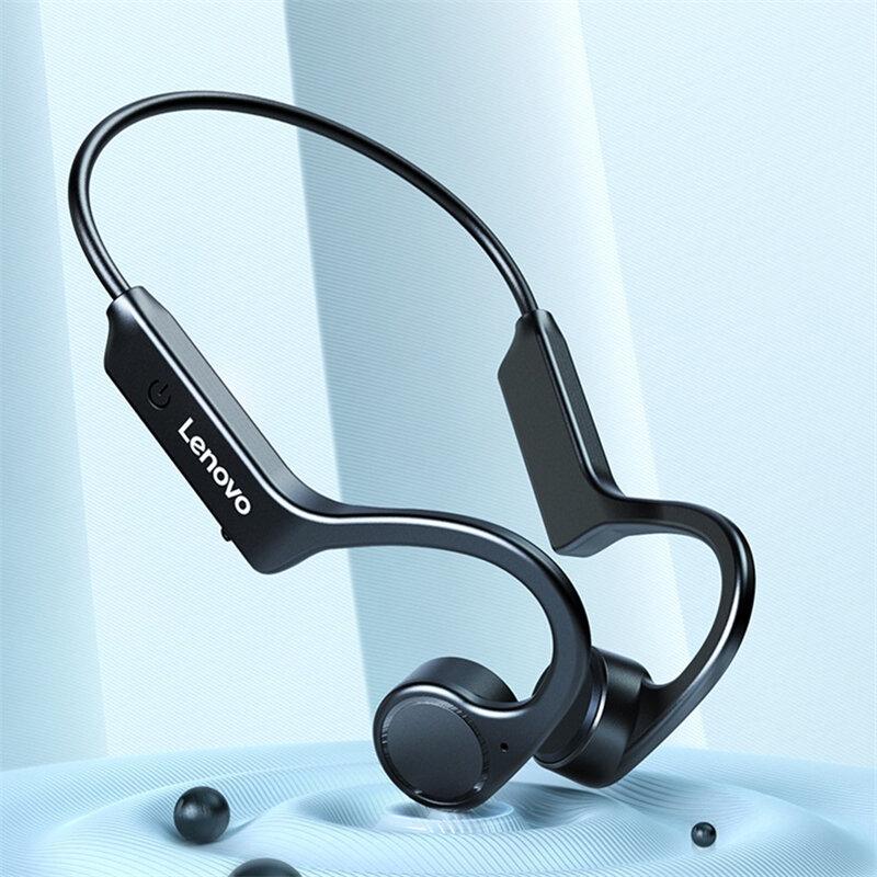 Lenovo X4 Bone Conduction bluetooth 5.0 Earphone Wireless Headphone Vibration Stable Sport Running IP56 Waterproof Headset with Mic