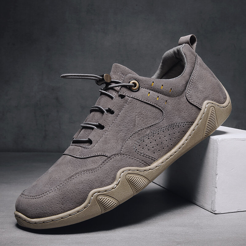 Men Microfiber Leather Breathable Soft Sole Comfy Brief Solid Casual Shoes