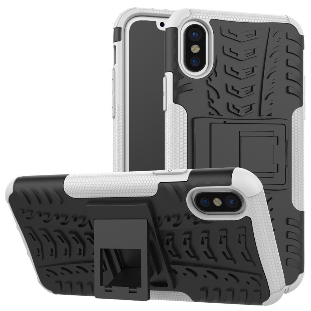 Bakeey ™ 2 i 1 Armor Kickstand TPU + PC Hybrid Case Caver til iPhone X