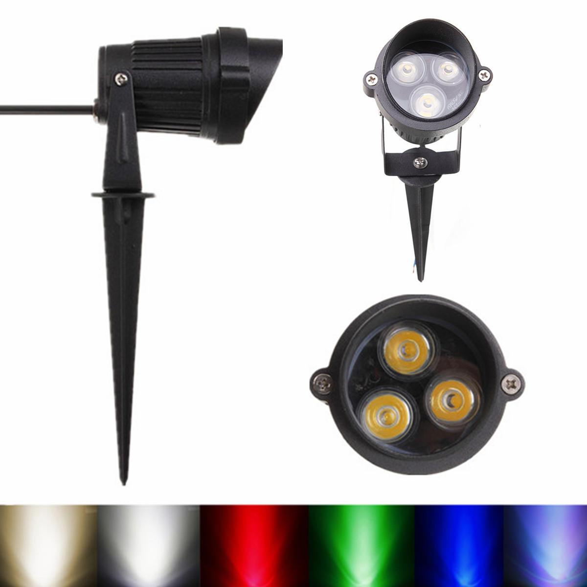 6W LED Flood Spot Lightt With Rod & Cap For Garden Yard IP65 DC 12-24V