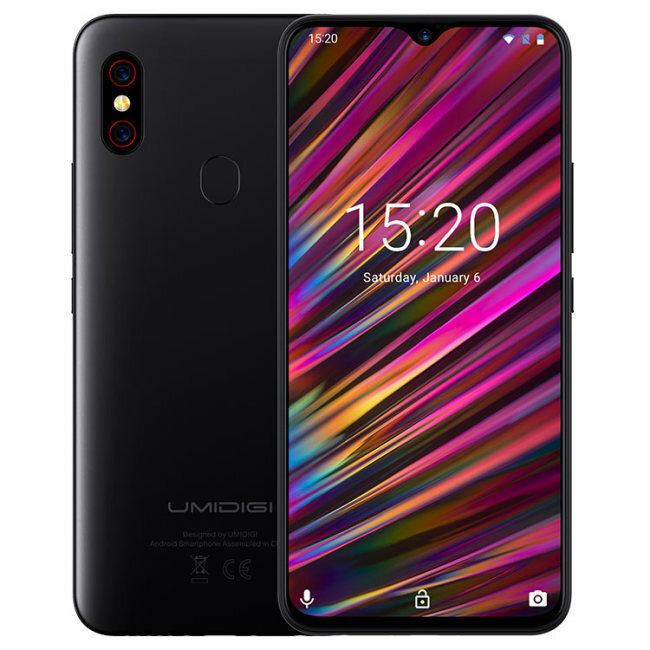UMIDIGI F1 Play Android 9.0 Global Bands 6.3 Inch FHD+ NFC 5150mAh 6GB RAM 64GB ROM Helio P60 Octa Core 2.0GHz 4G Smartphone