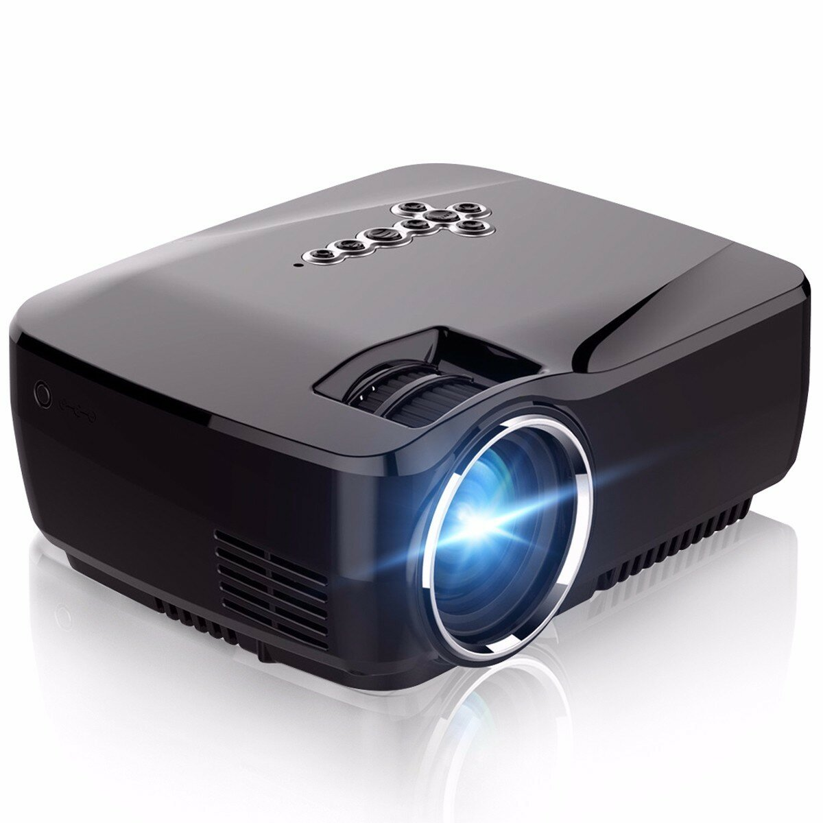 ELEGIANT GP70UP Mini LED Projector Android 4.4 OSD 1200 Lumens 1G RAM 8G ROM Home Office Outdoor bluetooth Projector