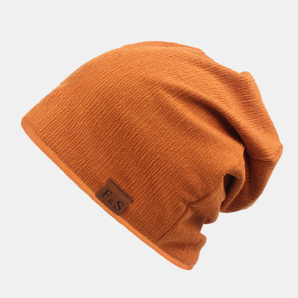 Unisex Thickened Winter Keep Warm Wool Cap Brimless Solid Color Knit Hat Beanie Hat