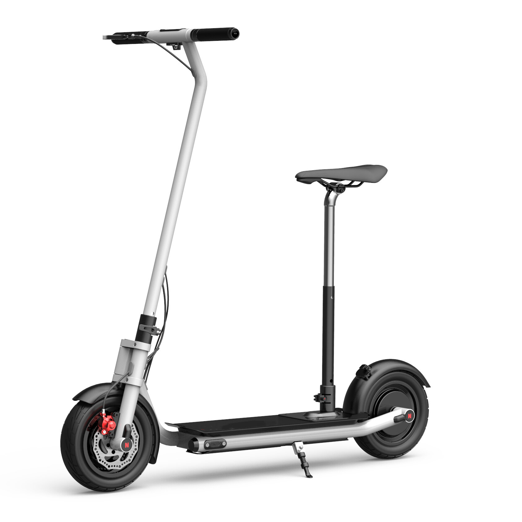 NEXTDRIVE N-7 300W 36V 10.4Ah Foldable Electric Scooter With Saddle For Adults/Kids 32 Km/h Max Speed 18-36 Km Mileage