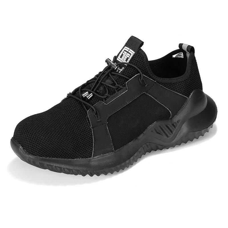 पुरुषों स्टील पैर की अंगुली लाइटवेट Soft एकमात्र पंचर सबूत सुरक्षा कार्य जूते