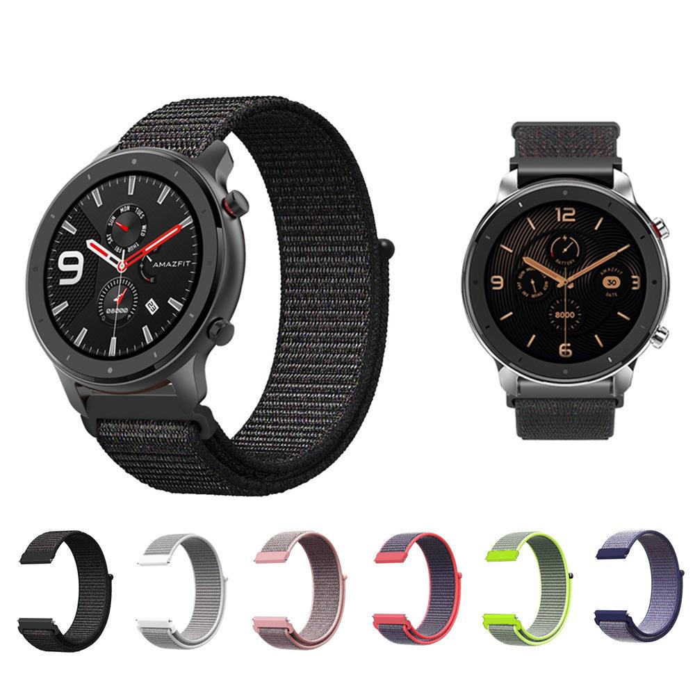 Nylon Watch Band Watch Strap Penggantian untuk 47mm Amazfit GTR Smart Watch