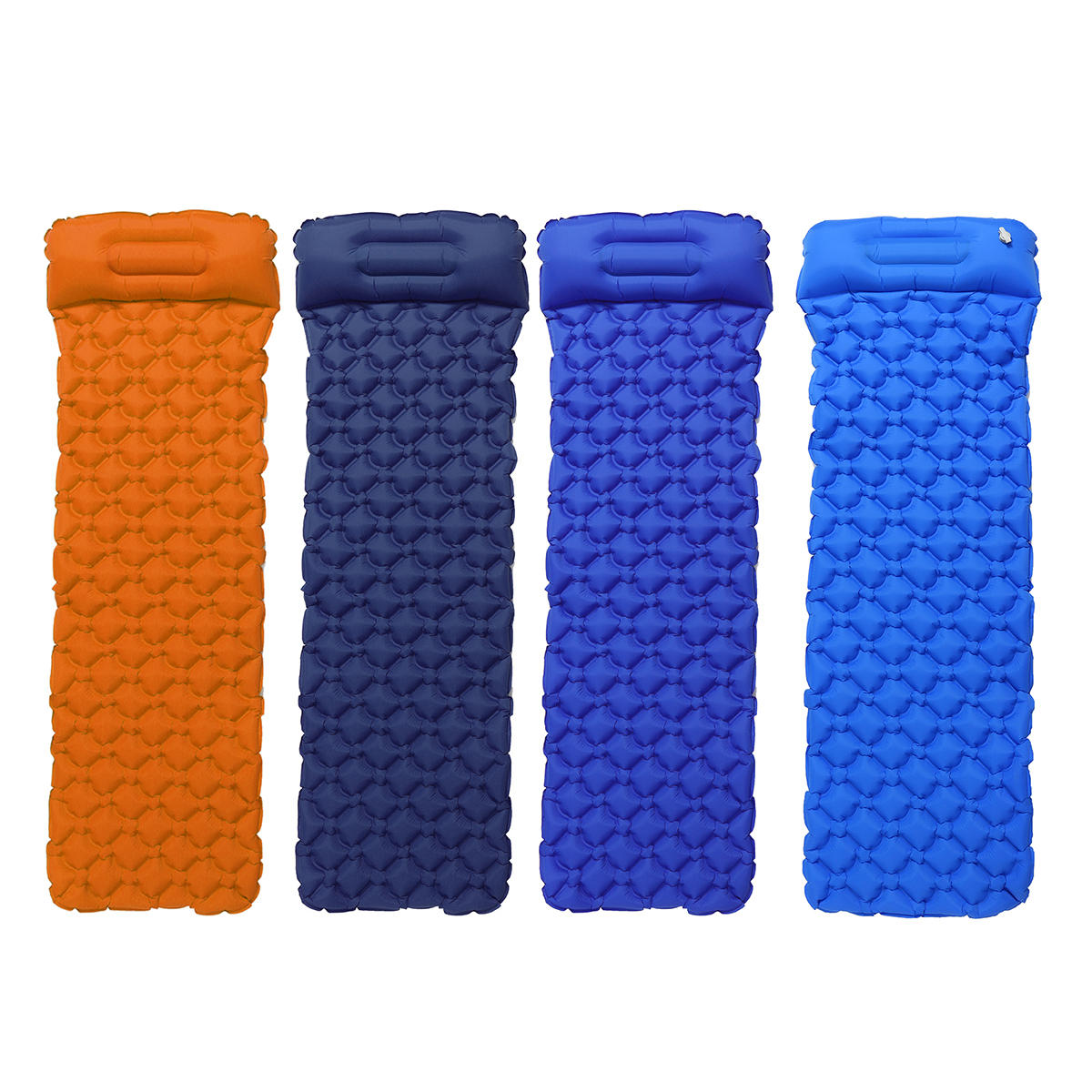 Ultralight Inflatable Sleeping Mat Multi-use Waterproof Camping Air Pad Foldable Roll Bed Mattress With Pillow