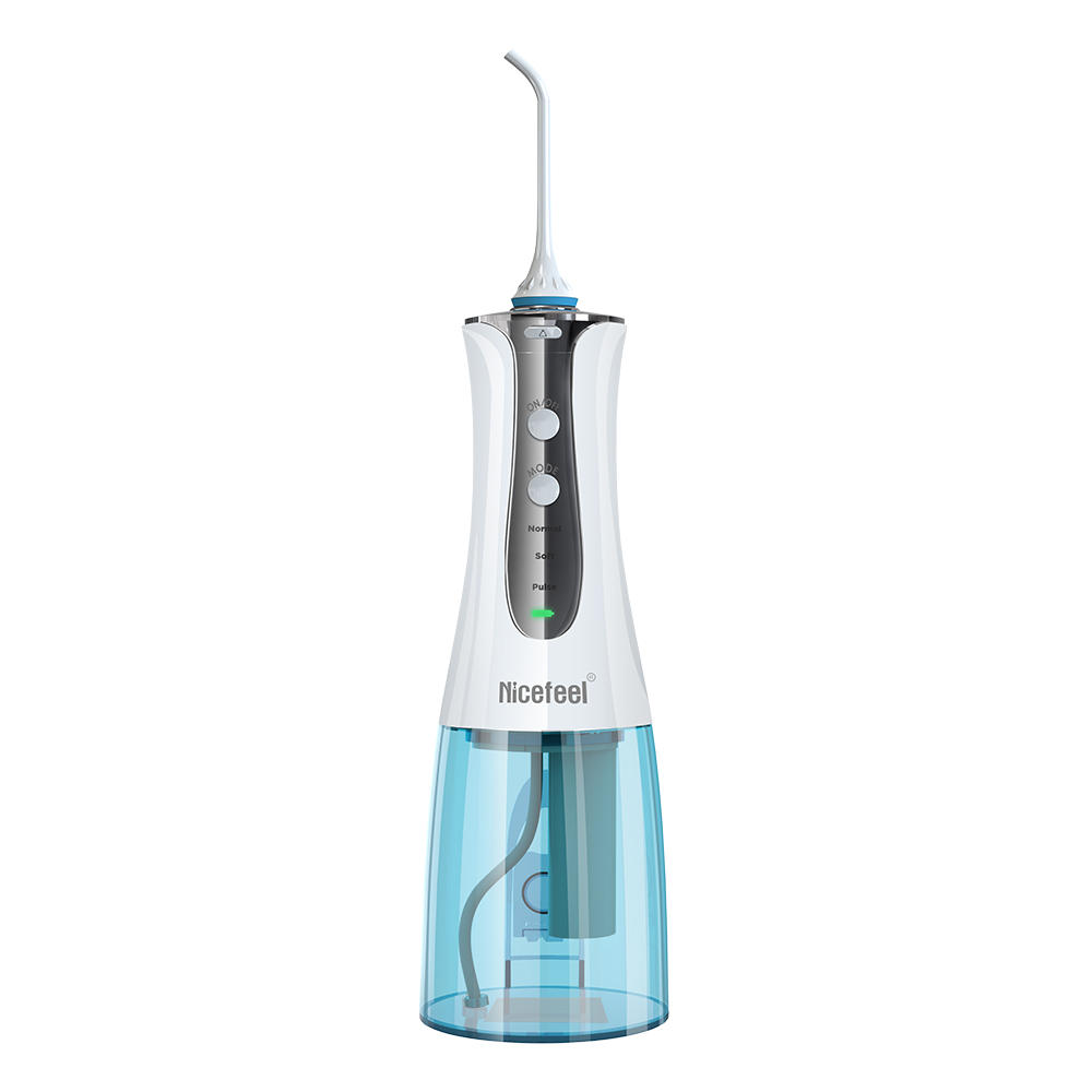 DIGOO & Nicefeel DG-FC152 Dental Water Flosser Cordless 3 Modes 300ml Oral Irrigator IPX7 Waterproof with Timing Function USB Charge