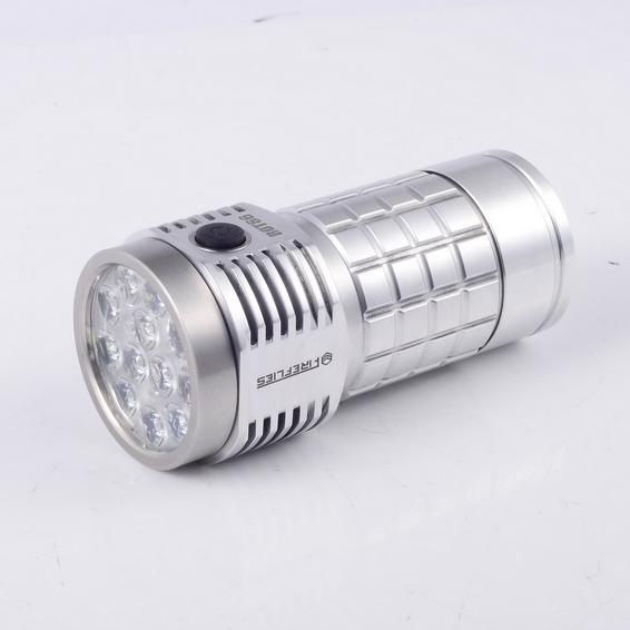 Fireflies ROT66 Generation II Polished Raw Aluminium SST20/ Nichia/ XPL HI/ Osram 7000~10000Lumens + 45 degree TIR lens EDC LED Flashlight - SST20 5000k