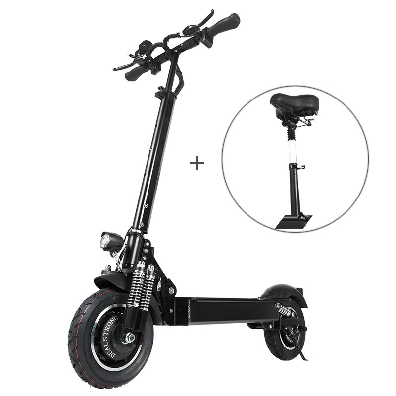[EU Direct] Janobike 2000W Dual Motor 23.4Ah 10 pollicies Folding Electric Scooter with Seat 70km/h Max. Speed 80km Mileage Range...