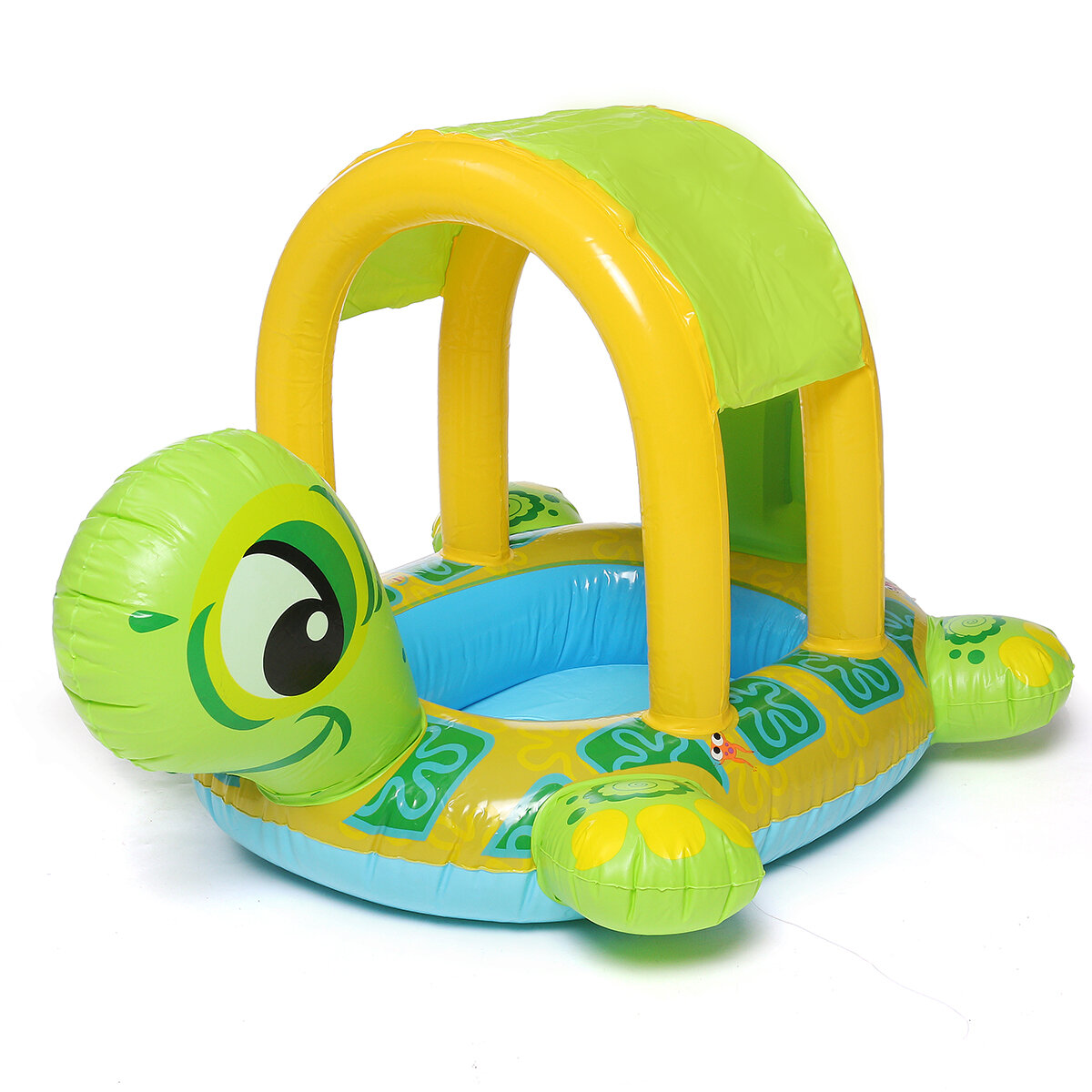85x61cm Children Swimming Ring Float Inflatable Swim Boat Turtle Swimming Seat