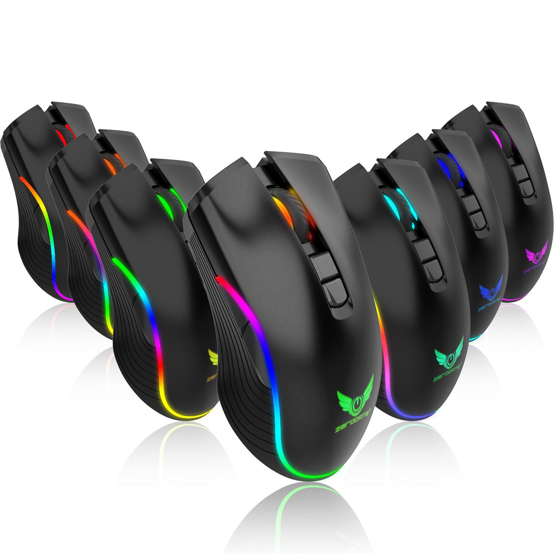 ZERODATE T26 2400DPI 2.4G Wireless RGB Backlight Technology Mouse for PC Laptop