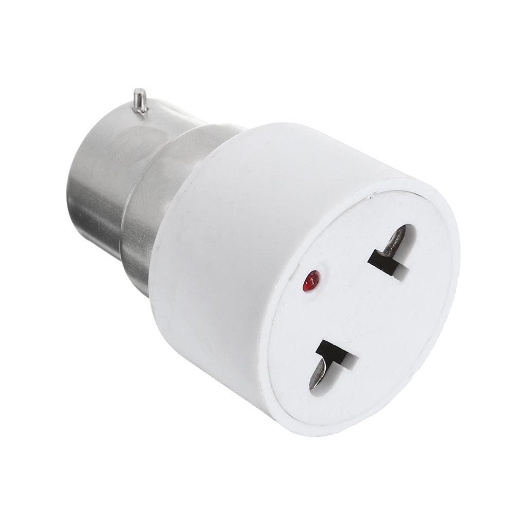 B22 Bulb Adapter Light Socket Lamp Holder To Us Plug Converter For Home Fluorescent Lamps