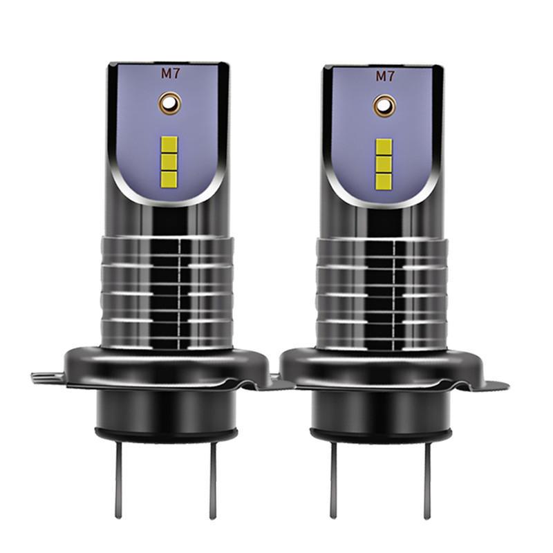 2PCS H7 55W 26000LM Car LED Headlights Bulb Fog Lamp IP68 Waterproof 6000K White