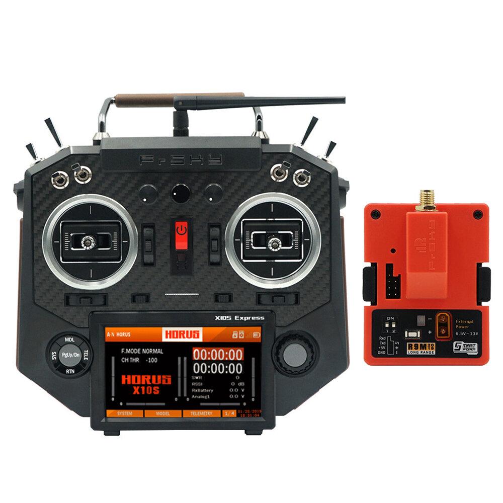 FrSky HORUS X10S Express 24CH ACCESS ACCST D16 Mode2 FCC Version Transmitter with R9M 2019 900MHz Long Range Transmitter Module