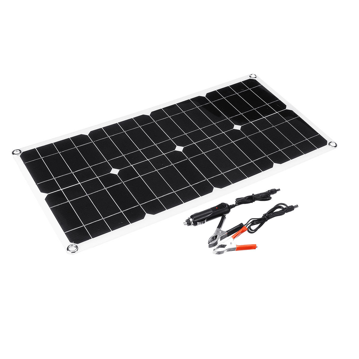 100W 18V Dual USB Solar Panel Battery Solar Cell Module Car Outdoor Charger Solar Power Panel 1Pcs фото